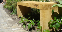 Oak formal garden benches