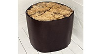 Spalted beech trunk table