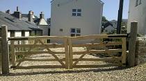 Split chestnut field gates
