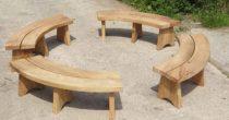 Circular Bench Set