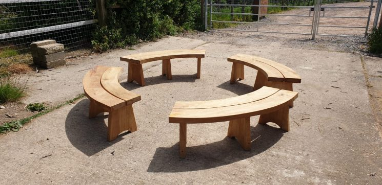 Sweet Chestnut bench by Ed Brooks Furniture