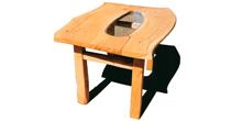 Split chestnut dining table