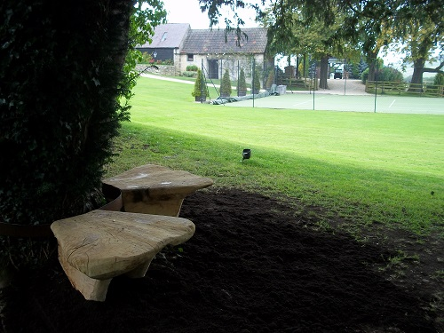 Toadstool oak benches 2