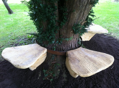 Toadstool oak benches