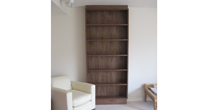 Walnut bookshelf unit