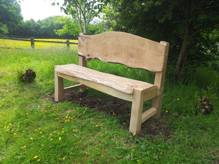 Waney edge oak bench 1