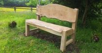 Waney edge oak bench