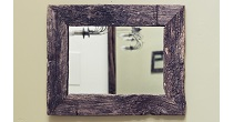 Weathered oak mirror frame
