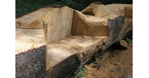 Softwood picnic bench