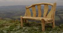 Chestnut and oak bench