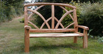 Ornamental chestnut bench