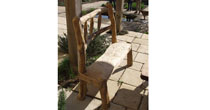 Chestnut patio benches