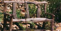 Split chestnut bench