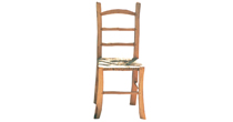 Chestnut & rush seat chair