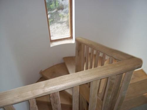 chestnut staircase handrail