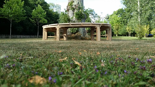 english oak circular organic tree bench 2