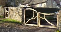 Forked entrance gates