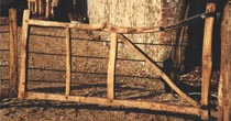 Chestnut entrance gate