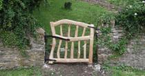 Curved chestnut garden gate