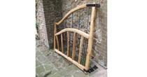Chestnut & steel garden gate