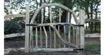 Cleft chestnut garden gate