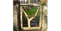 Fork chestnut garden gate