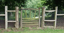 Split chestnut garden gate