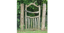 Tall chestnut garden gate