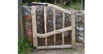 Chestnut/copper garden gate