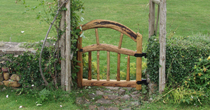 Curved chestnut gate