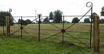 Reused iron field gates
