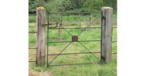 Reused iron pedestrian gate