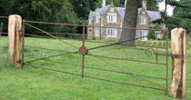 Refurbished iron field gate