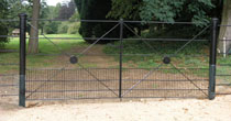 Rabbit proof steel gates
