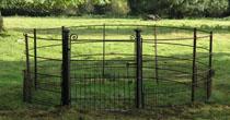 Refurbished gate & railings