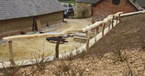 Split oak safety rail