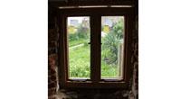 Oak window frame
