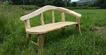 Oak and chestnut chaise longue