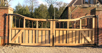 Oak iron entrance gates