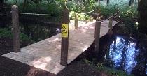 oak board bridge