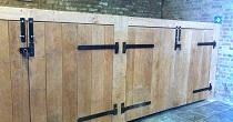 Oak sleeper bin store