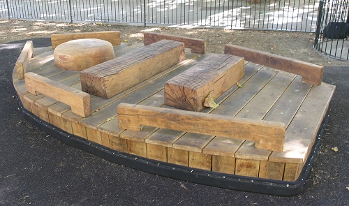 Royal Parks wobbly childrens playground ferry in oak