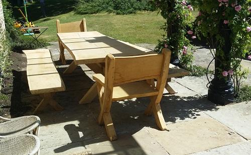Waney Edge Oak Table And Chairs Ed Brooks Ed Brooks