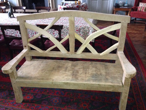 ornamental oak chestnut benches 1