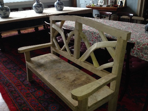 ornamental oak chestnut benches 2
