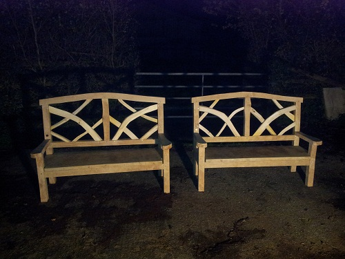ornamental oak chestnut benches 3