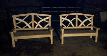 Ornamental oak bench