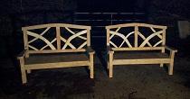 Ornamental oak bench