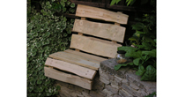 Split chestnut wall seat