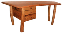 Split chestnut office desk